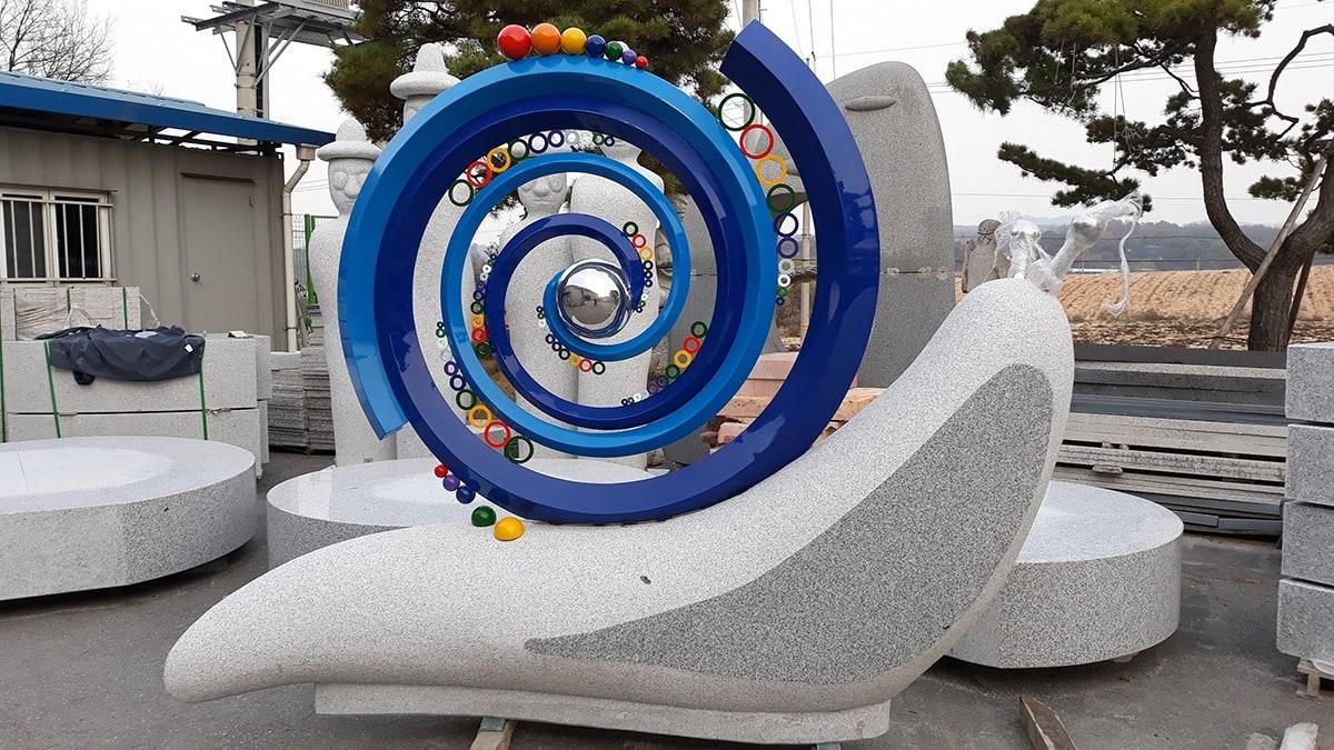 달팽이의 꿈 조형물 제작 설치